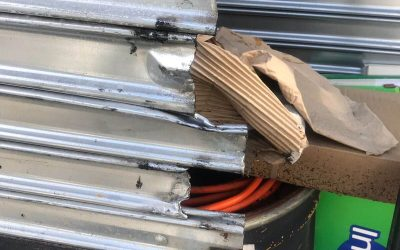 Broken gate slats