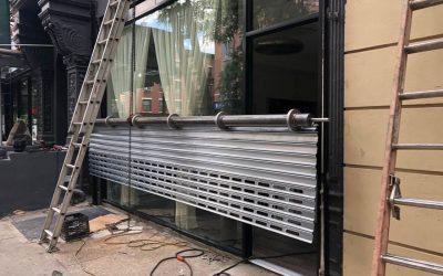Roll up gate installation in Manhattan